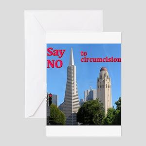 """""""Say No"""" -TAPyramid+HooverTower Greeting Card"""