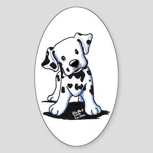 Dalmatian Sticker (Oval 10 pk)