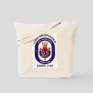 USS Nebraska SSBN 739 Tote Bag