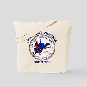 USS West Virginia SSBN 736 Tote Bag