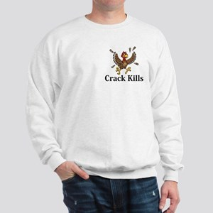 Crack Kills Logo 14 Sweatshirt Design Front Pocket