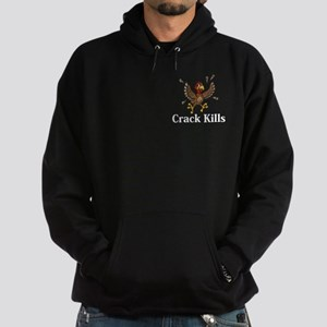 Crack Kills Logo 14 Hoodie (dark) Design Front Poc