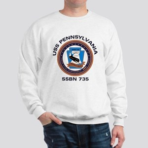 USS Pennsylvania SSBN 735 Sweatshirt