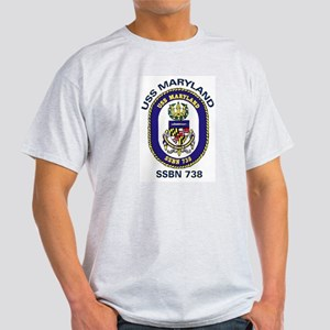USS Maryland SSBN 738 Light T-Shirt