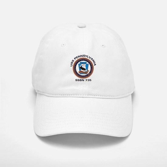 USS Pennsylvania SSBN 735 Baseball Baseball Cap