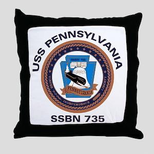USS Pennsylvania SSBN 735 Throw Pillow