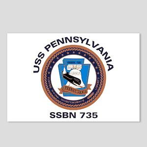 USS Pennsylvania SSBN 735 Postcards (Package of 8)