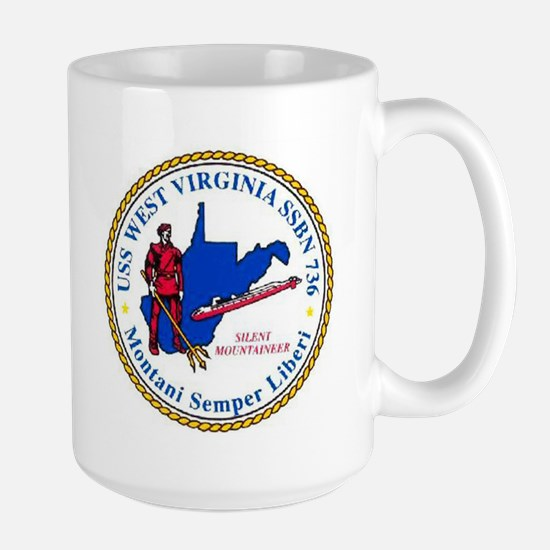 USS West Virginia SSBN 736 Large Mug