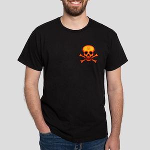 Orange Biohazard Skull Dark T-Shirt