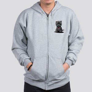 Affenpinscher Zip Hoodie