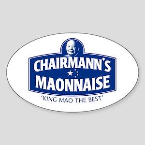 CHAIRMANN'S MAONNAISE Oval Sticker