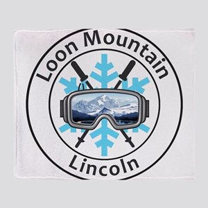 Loon Mountain - Lincoln - New Hamp Throw Blanket