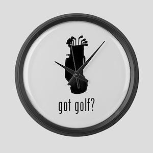 Golf 2 Large Wall Clock