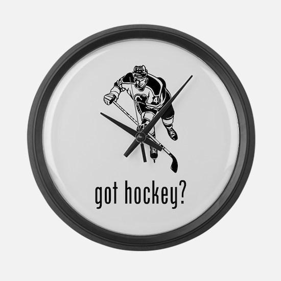 Hockey Large Wall Clock