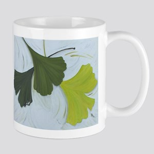 3 shades of Gingko Mugs