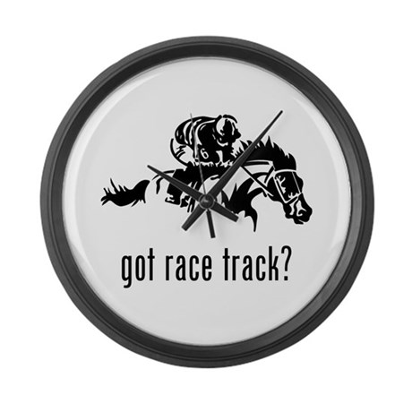 Race Track Large Wall Clock