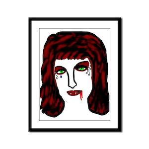 Vampire Framed Panel Print