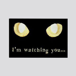 Glowing Eyes Watch Rectangle Magnet