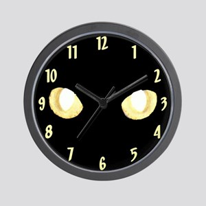 Glowing Eyes Wall Clock