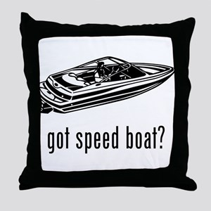Speed Boat 2 Throw Pillow