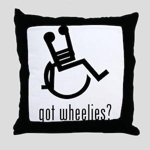 Wheelies Throw Pillow