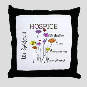 HOSPICE Throw Pillow