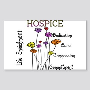 HOSPICE Sticker (Rectangle 10 pk)