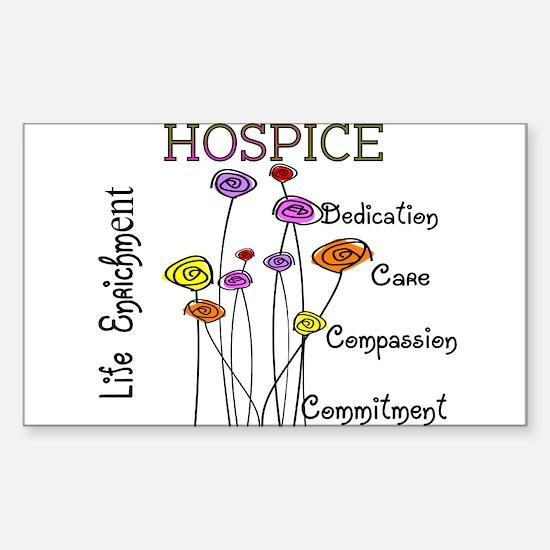 HOSPICE Sticker (Rectangle 10 pk)