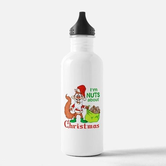 Santa Squirrel Water Bottle