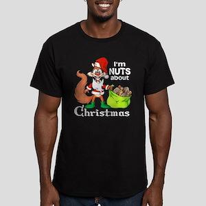 Santa Squirrel Men's Fitted T-Shirt (dark)