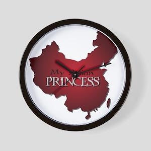 My Asian Princess (Red) Wall Clock