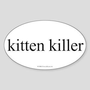 Kitten Killer Oval Sticker