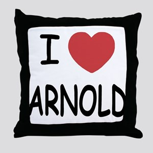 I heart Arnold Throw Pillow