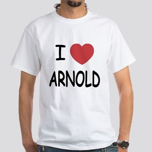 I heart Arnold White T-Shirt
