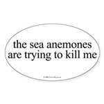 Anemone Paranoia Oval Sticker