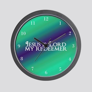 Jesus is Lord Wall Clock