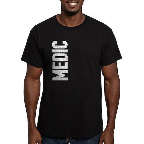 Medic (vertical) Men's Fitted T-Shirt (dark)