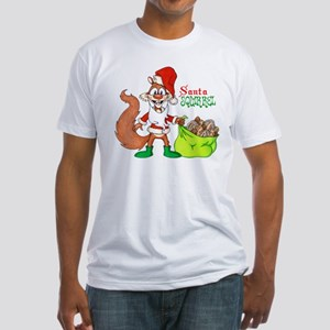 Santa Squirrel Fitted T-Shirt