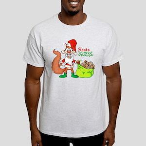 Santa Squirrel Light T-Shirt