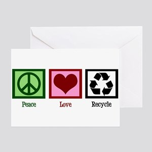 Peace Love Recycle Greeting Card