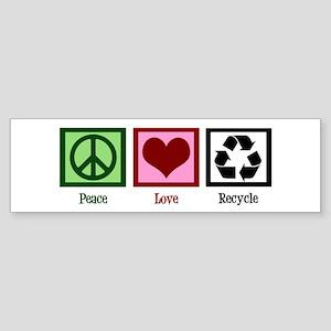 Peace Love Recycle Sticker (Bumper)