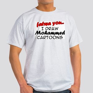 Mohammed Cartoon Ash Grey T-Shirt