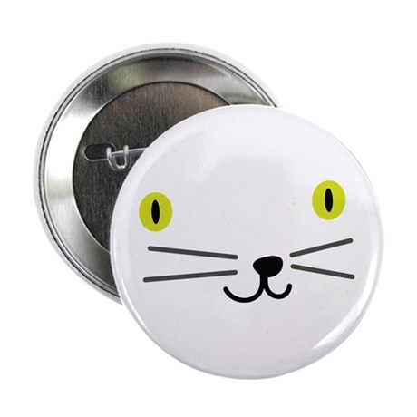 "CRAZYFISH kittie kat 2.25"" Button"