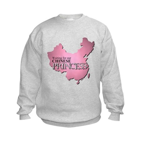 Waiting for our Chinese Princ Kids Sweatshirt