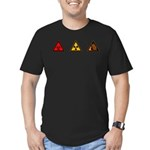 For Science (logo only) Men's Fitted T-Shirt (dark