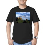 Red Rock Country Men's Fitted T-Shirt (dark)