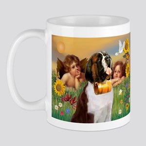 Two Angels & Saint Bernard Mug