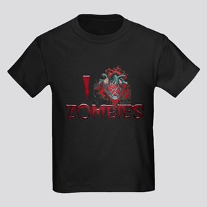i (heart) ZOMBIES! Kids Dark T-Shirt