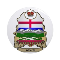 Alberta Shield Ornament (Round)