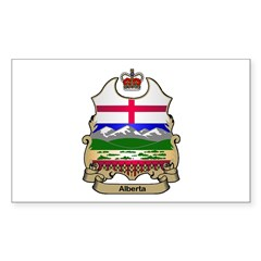 Alberta Shield Rectangle Decal